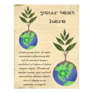 Wiederverwendung verringern recyceln Baum-Erdkugel 21,6 X 27,9 Cm Flyer