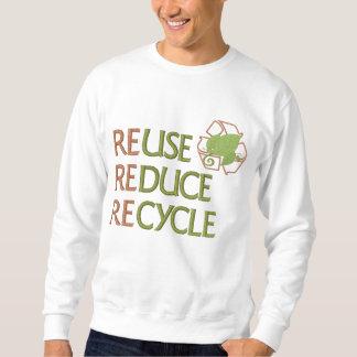 Wiederverwendung verringern recyceln besticktes sweatshirt