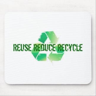 Wiederverwendung verringern recyceln mauspads