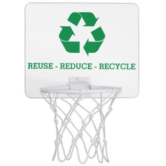Wiederverwendung verringern recyceln mini basketball netz