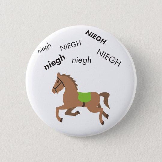 Wiehern-Pferd niedliches Emoji Runder Button 5,1 Cm