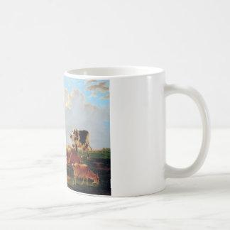 Wiese mit Vieh durch Jakob van Strij Kaffeetasse