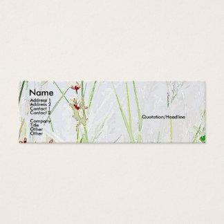 Wiesen-Gras-Wildblumen-Blumen Mini Visitenkarte