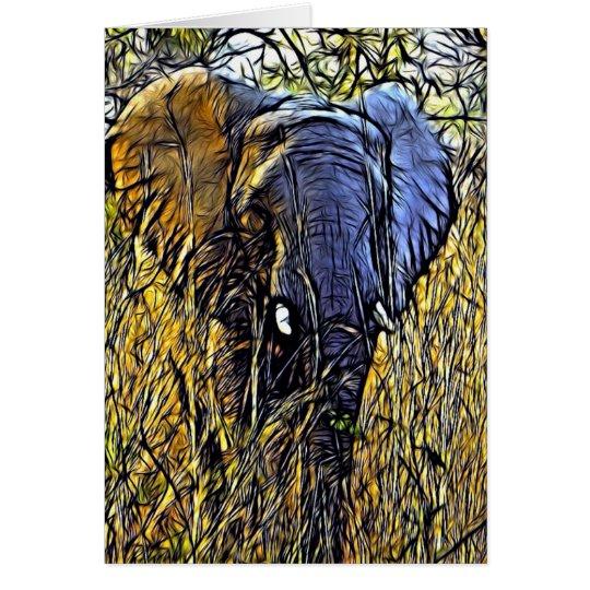 Wiesen-wilde Safari-Tierkunst-afrikanischer Karte