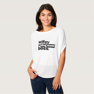 Wifey Hundemamma-Chef-lustiges Shirt