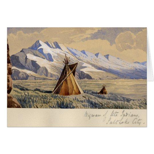 Wigwam des Ute-amerikanischen Ureinwohners, Salt Karte