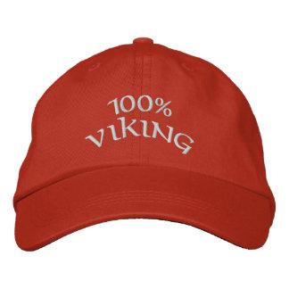 Wikinger 100% bestickte kappe
