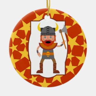 Wikinger-Krieger-Jungen-Geburtstags-Party Keramik Ornament