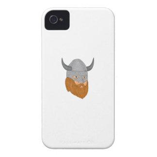 Wikinger-Krieger-Kopf drei Case-Mate iPhone 4 Hülle