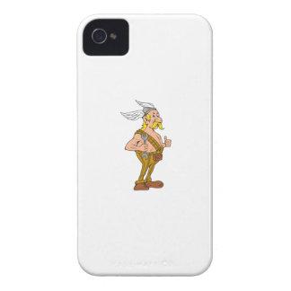 Wikinger-Schlosser-Schlüssel-Daumen Up Cartoon iPhone 4 Case-Mate Hüllen