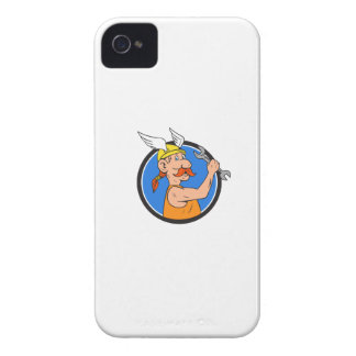 Wikinger-Schlosser-Schlüssel-Kreis-Cartoon iPhone 4 Case-Mate Hüllen