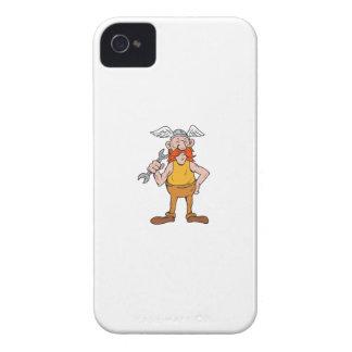 Wikinger-Schlosser-stehender Schlüssel-Cartoon iPhone 4 Case-Mate Hülle