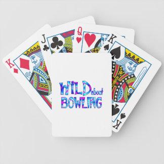 Wild über Bowling Bicycle Spielkarten