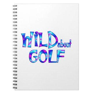 Wild über Golf Notizblock