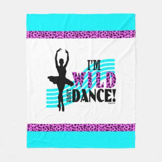 Wild über Tanz Fleecedecke