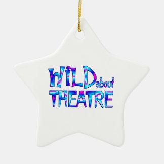 Wild über Theater Keramik Ornament