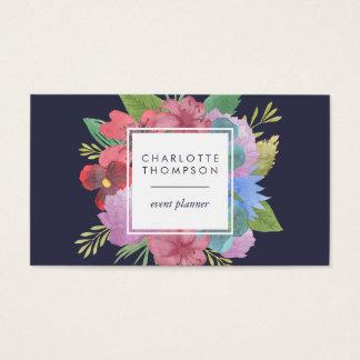 Wildblume-Blumenstrauß-Doppeltes versah mit Seiten Visitenkarte