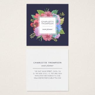 Wildblume-Blumenstrauß-Quadrat Quadratische Visitenkarte