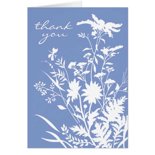 Wildblume danken Ihnen zu kardieren Mitteilungskarte