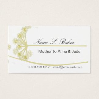 Wildblume-elegantes modernes mit Blumenberufliches Visitenkarte