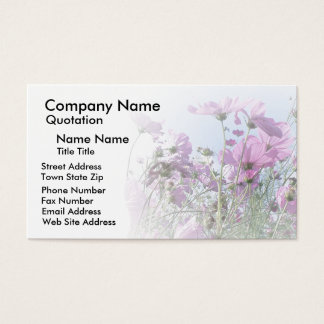 Wildblume-Entwurf Visitenkarte