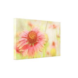 Wildblume-Feld Leinwanddruck