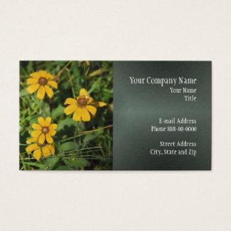 Wildblume-Geschäfts-Karte Browns mit Augen Susan Visitenkarte