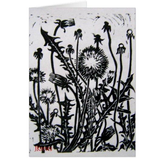 Wildblume-Karte Mitteilungskarte