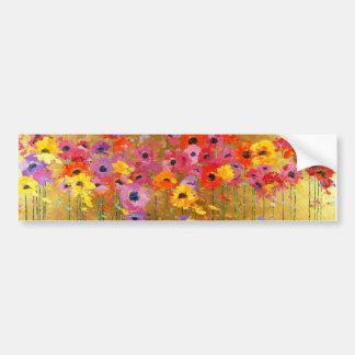 Wildblume-Kunst Autoaufkleber