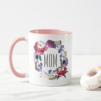Wildblume-Pfingstrose mit Blumen mit dem Tag der Tasse