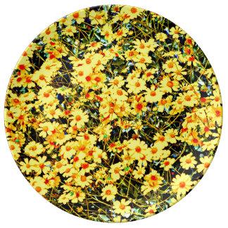 Wildblume-Sammlungs-dekorative Porzellan-Platte Porzellanteller