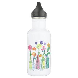Wildblume-Wasser-Flasche Edelstahlflasche