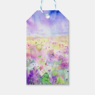 Wildblume-Wiesenmalerei des Watercolor abstrakte Geschenkanhänger