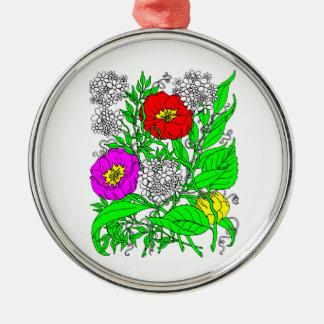 Wildblumen 2 silbernes ornament