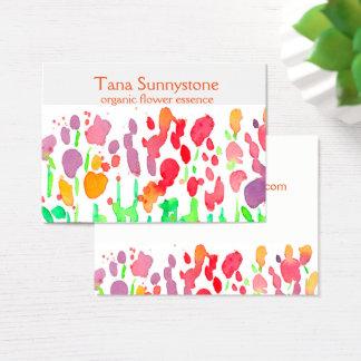 Wildblumen-Regenbogen-Farben Visitenkarte