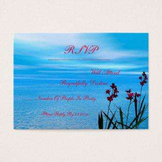 Wildblumen und Ozean Visitenkarte