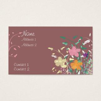 Wildblumen Visitenkarte