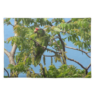 Wilde Amazonas-Papageien-Vogel-Tier-wild lebende Tischset