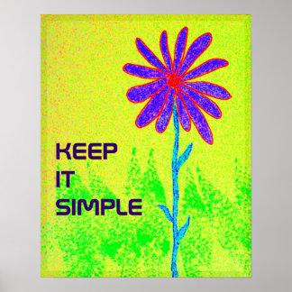 Wilde Blume behalten es einfaches Plakat