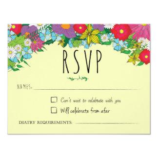 Wilde Blumen - Sommer - Hochzeit - UAWG Karte