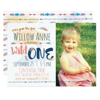 Wilde erste Geburtstags-Einladung 12,7 X 17,8 Cm Einladungskarte