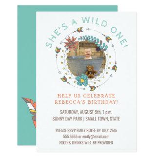 Wilde erste Stammes- Pfeile des 12,7 X 17,8 Cm Einladungskarte
