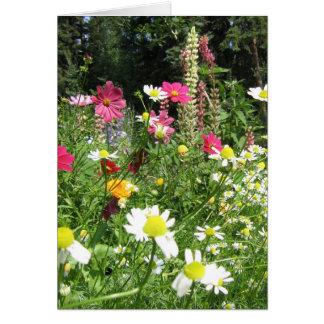 Wilde Gartenkarte Mitteilungskarte