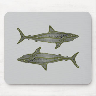 Wilde Haifische Mousepad