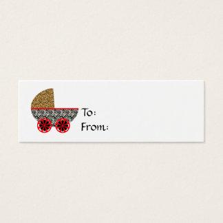 Wilde Kinderpram-Geschenk-Karte Mini Visitenkarte