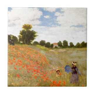 Wilde Mohnblumen Claude Monets // Kleine Quadratische Fliese