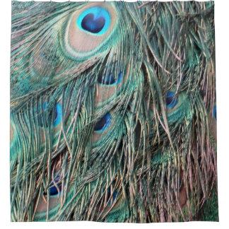 Wilde Pfau-Feder-Augen Duschvorhang