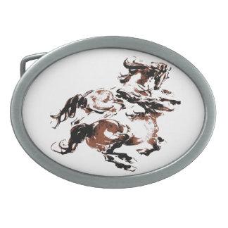 Wilde Pferdegürtelschnalle Ovale Gürtelschnallen