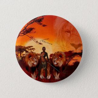 Wilde Savanne Runder Button 5,1 Cm