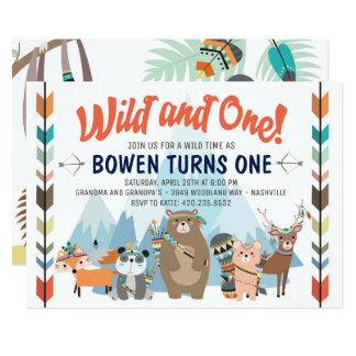 Wilde und eine Geburtstags-Einladung 12,7 X 17,8 Cm Einladungskarte